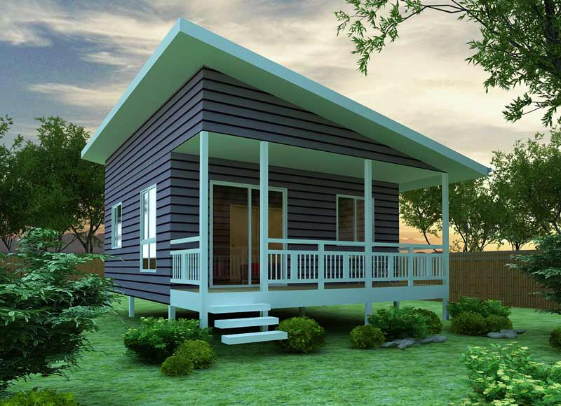 The chalet 45 granny flat kit home for House plans with granny flats