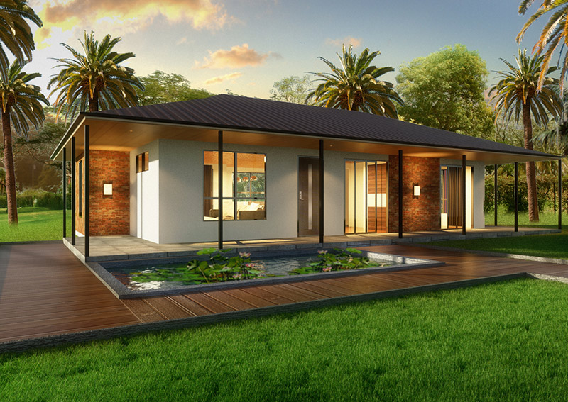 The villa 2 bedroom kit home for New build 2 bedroom house